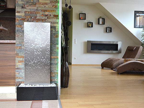 wasserwand designer wasserw nde aus naturstein edelstahl glas nirosta. Black Bedroom Furniture Sets. Home Design Ideas